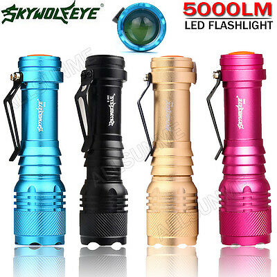 5000LM Super Bright CREE Q5 AA/14500 3 Mode ZOOMABLE LED Flashlight Torch Clicky
