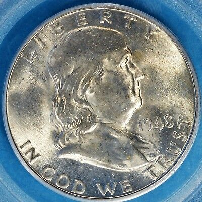 1948-D Franklin Half Dollar PCGS MS64FBL- Nice Luster, Surfaces, Eye Appeal