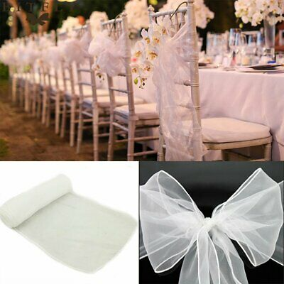 25 50 100 pcs Bows Large Size Organza Chair Cover Sashes Bow Wedding Party UK