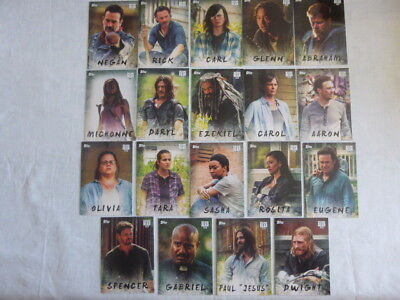 The Walking Dead Season 7 Complete Character Chase Card Set 19 Cards C-1 to C-19