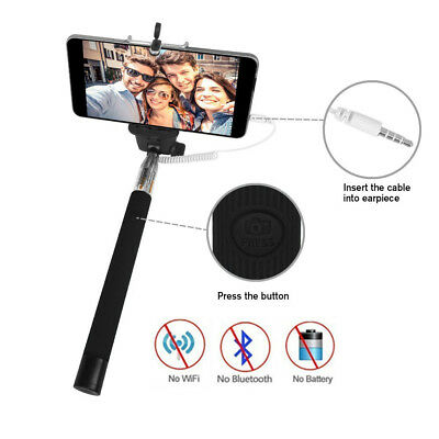 Extendable 30-Inch Selfie Stick Handheld Mount Holder For iPhone Android Samsung