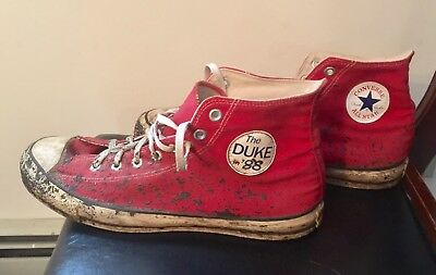 Vtg DUKE In '88  Election Converse All Star Sneakers Basketball Shoes 12