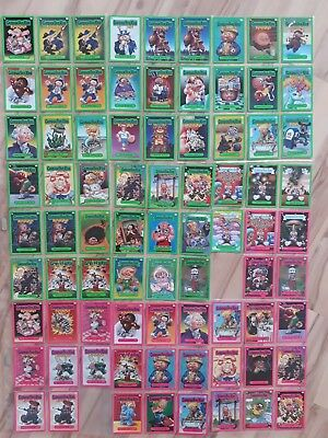 Garbage Pail Kids Flashback Series 3. Pink & Green Border lot. mint. 79 cards