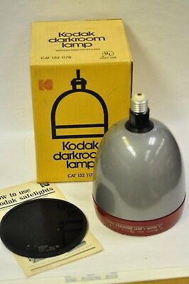 """Kodak Model A darkroom safelight new old stock with a used #13 filter 5 1/2"""""""