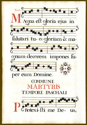 1725 Music Leaf Mass Celebrated for Martyrs During Easter Beautiful Stenciling