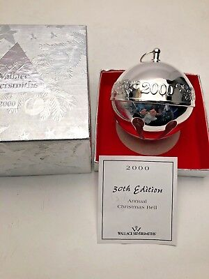 Wallace 2000 Silver Plated Sleigh Bell with Box.  Excellent Condition