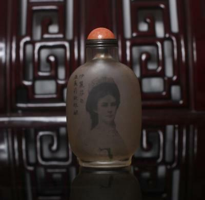 Old Chinese Hand painting inside painting Sissi Snuff Bottle Ma Shaoxuan MK