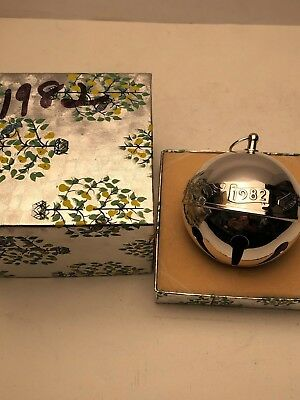 Wallace 1982 Silver Plated Sleigh Bell with Box.  Excellent Condition