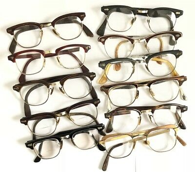 Eyeglasses Gold Filled 1/10-12K GF Glasses Lot 11x Pairs Hipster 1950s 60s 40s