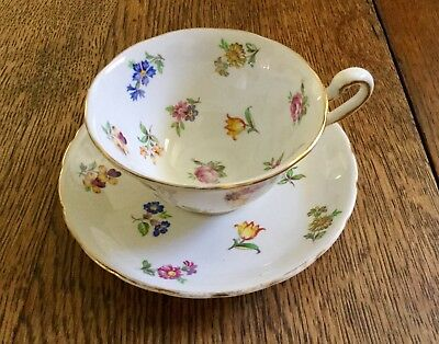 Vintage Tea Cup & Saucer Royal Chelsea English Bone China Hand Numbered!
