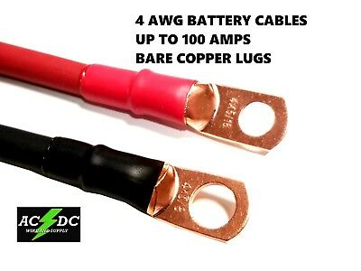 4 awg Copper Battery Cable Power Wire Car, Marine, Inverter, RV, Solar, Carts