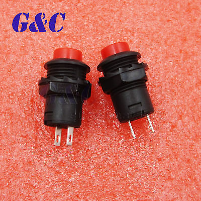 10PCS 2P SPST NO Red Momentary Round Push Button Switch 1.5A 250VAC 12mm