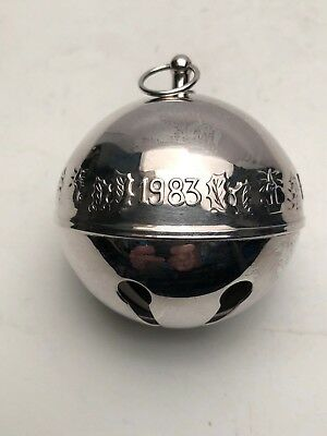 Wallace 1983 Silver Plated Sleigh Bell NO Box.  Excellent Condition