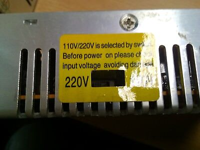 Lot of 9 used generic DC 12V @ 20A power supplies