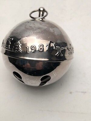 Wallace 1987 Silver Plated Sleigh Bell NO Box.  Excellent Condition