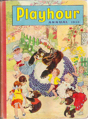 PLAYHOUR ANNUAL 1958 Gran'pop Sonny Sally Mimi Marmy Rare child's collectable VG