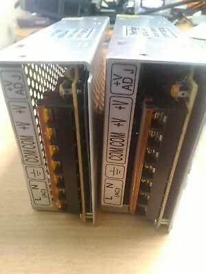 2x used generic DC 5V @ 12A power supplies