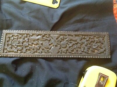 Small antique wood panel carved