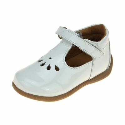 Froddo Infant Girls White Patent Shoe size eu kids children hook loop leather