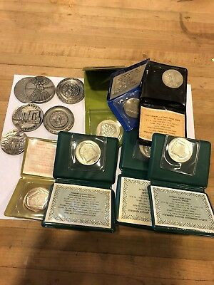 12 different Israel sterling silver Coins and Medals