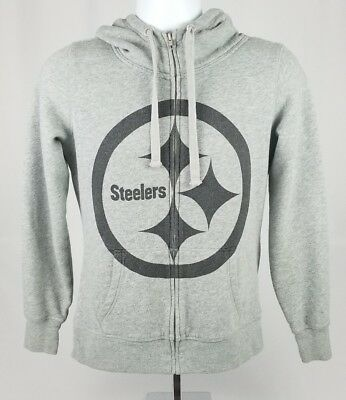 the latest 41945 ee4eb DISCONTINUED NFL VICTORIA'S Secret PINK Pittsburgh Steelers Hoodie Zip XS