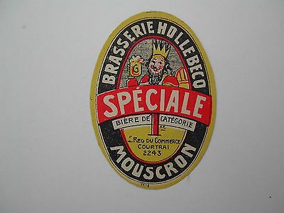 Oldbeerlabel Speciale Br Hollebecq Mouscron (*226)
