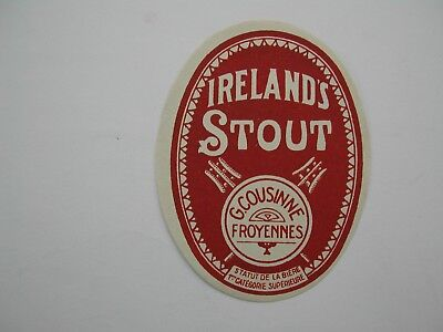 Oldbeerlabel Ireland's Stout Br Cousinne Froyennes (2)