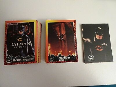 1992 Topps Batman Returns Complete Card Set (88) & 10 Special Stadium Club Cards