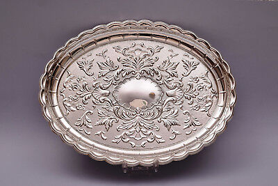 Beautiful Sterling Silver Repousse Tray