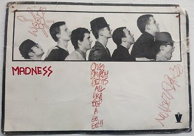 Madness Autographed Calling Card from Glasgow Apollo 1979 Authentic