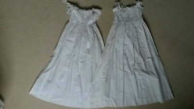 Pair of matching English antique / vintage white christening gowns