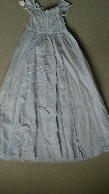 FOUR beautiful vintage white christening gowns, lace, hand embroidery etc