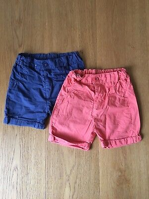 2 Pack Boys Shorts M&S 12-18 Months