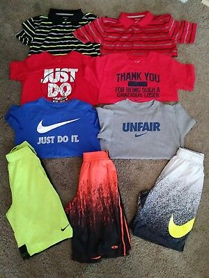 Boys Summer Clothes Size Large - XL Lot of 9 Nike Champion