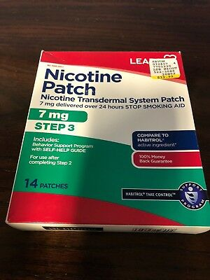 Leader Step 3 Nicotine Transdermal Patch 7Mg/24Hr, 14 Count per Box
