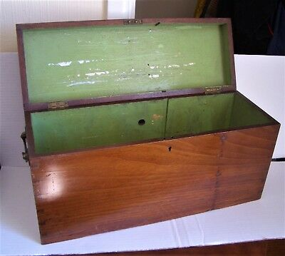 "Antique / Vintage Wood / Wooden Box - Length 18"" x Depth 6"" x Height 9"""
