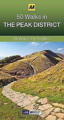 50 Walks in The Peak District by AA Publishing (Paperback) New Book