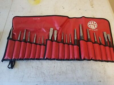 25 Piece Mac Tools Pc19k  Punch & Chisel Set, Flat Tip,