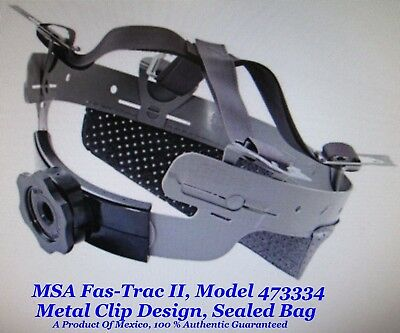 """MSA Skullgard Fas-Trac II Replacement Suspensions, """"Old Style'"""" Metal Clips"""