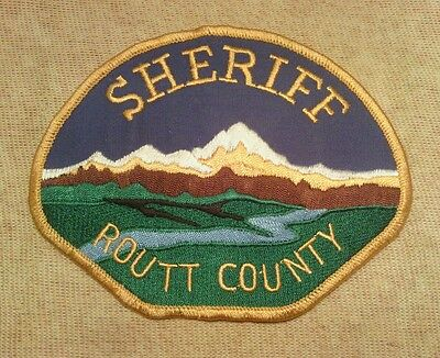CO Routt County Colorado Sheriff Patch