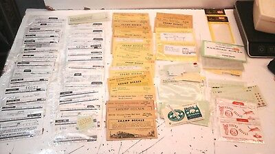 Vintage Lot of HO Train Decals....over 65 PACKAGES/locomotive/circus/freight etc