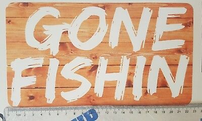 Gone Fishing - Fishin' car decal sticker