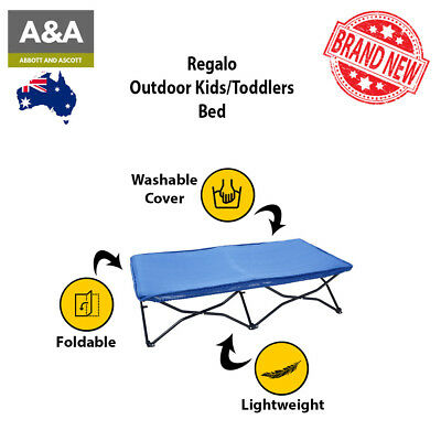Regalo Cot Foldable Bed | 100% GENUINE | Outdoor Indoor for Toddler with Pouch