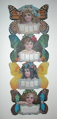 Antique 1904 Ad Calendar - The Christian Herald - Butterfly Girls by Brundage