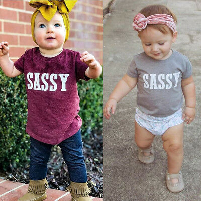 AU New Kids Infant Baby Boys Girls Tops T-shirt Blouse Clothes Summer 0 1 2 3 4Y