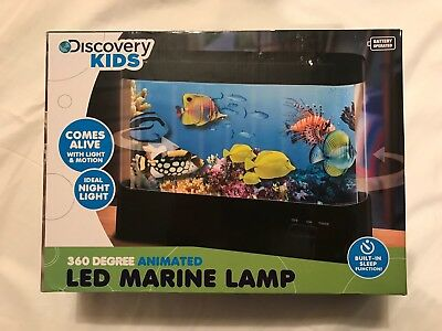 Discovery Kids Animated Led Marine Lamp 360 Degree Aquarium Night Light Nib