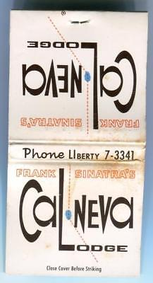 Tahoe Nv FRANK SINATRA'S CAL-NEVA LODGE scarce 1960s Casino Matchbook Matches