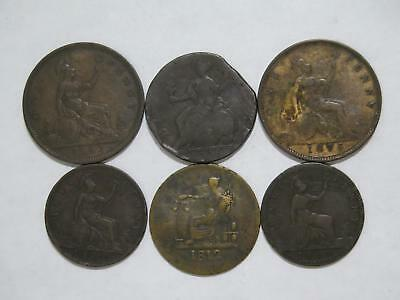 Great Britain Half & Penny Lower Canada 1812 Token Old World Coin Collection Lot