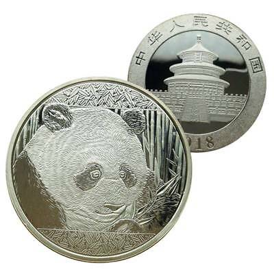2018 Silver China Chinese Panda Commemorative Coin Souvenir Collectible Gift