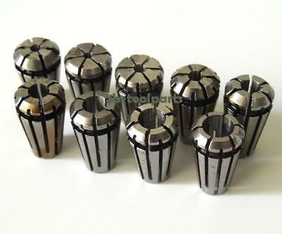 9pcs ER8 (1.0/1.5/2/2.5-5.0) Precision Spring Collet Tool Bit Holder CNC Milling